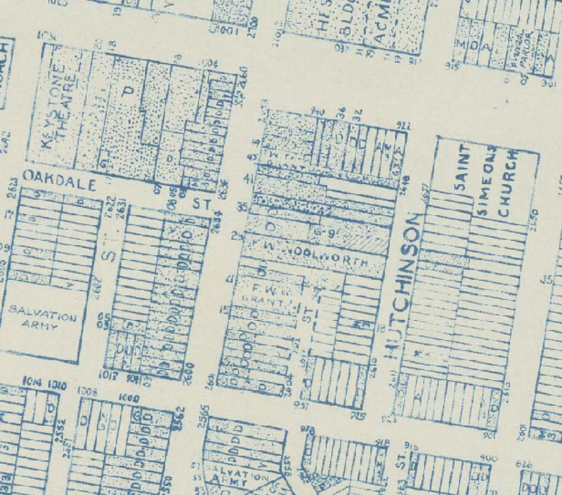 Map of Woolworth's