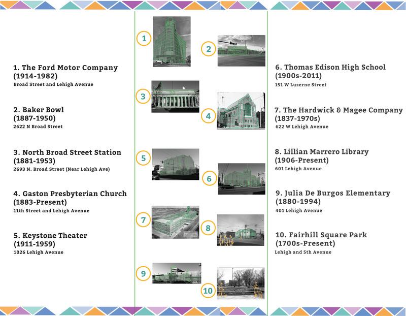Explore Lehigh Avenue Tour Brochure