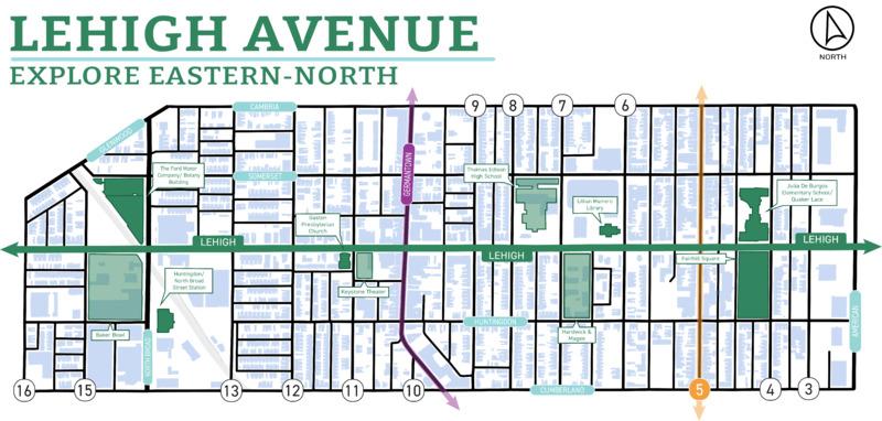 Lehigh Ave Map